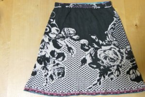 Ivko Knitted Skirt black-cream cotton