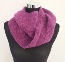 Strickschal Lila violett Loop Schal