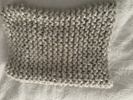 Zara Écharpe en tricot gris clair