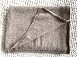 Zwillingsherz Knitted Scarf light brown wool