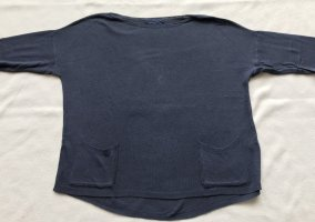 Gebreid shirt donkerblauw Gemengd weefsel