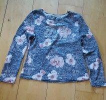 Strickshirt mit Blumen Gr. M