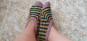 handmade House Boots multicolored