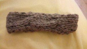 Strickstirnband aus Wolle