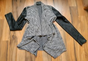 Amisu Chaleco de punto negro-gris