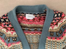 Only Gilet long tricoté multicolore