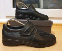 Ströber Halbschuh (Größe 6,5, Weite H) Leder schwarz Komfortschuh Bequemschuh