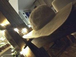 Hoed van stro licht beige