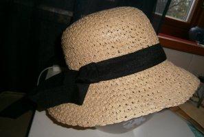 H&M Chapeau de paille jaune primevère tissu mixte