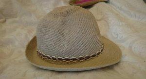 Cappello di paglia beige chiaro-beige