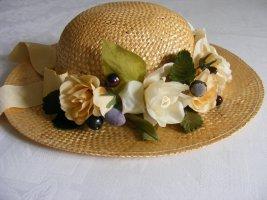 ohne Marke Straw Hat pale yellow mixture fibre