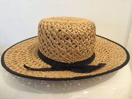 Straw Hat sand brown-black