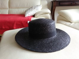 F&F Chapeau de paille noir-taupe