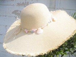 Chapeau de soleil beige clair-brun sable