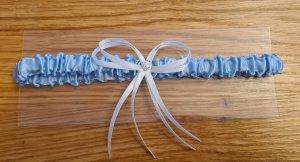 Strumpfband in blau Hochzeit Braut