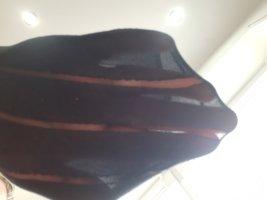 Peignoir noir tissu mixte