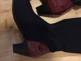 Stretch Boots black-carmine