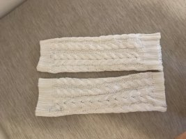 Legwarmers cream-white wool