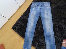 Diesel Slim Jeans steel blue-azure cotton