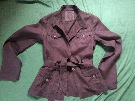 Giacca-camicia marrone Lino