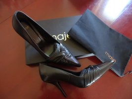 Maje Pointed Toe Pumps black leather