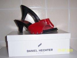Daniel Hechter Mule à talon rouge cuir