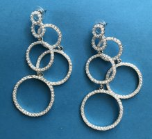 Statement Earrings white-sand brown mixture fibre