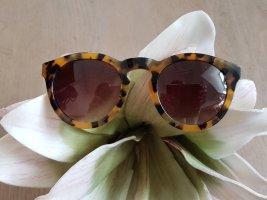 Retro Glasses dark yellow-black brown