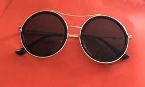Topshop Lunettes de soleil rondes noir-doré