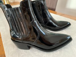 Jeffrey Campbell Western Booties black leather
