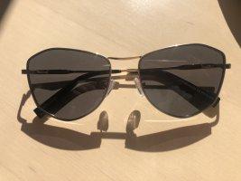 Zara Accesoires Kwadratowe okulary przeciwsłoneczne piaskowy brąz-czarny