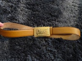 Dolce & Gabbana Leather Belt camel leather