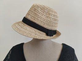 Panama hoed zwart-zandig bruin