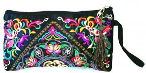 Stylisches Hippie-Taeschchen, bestickte Cluch
