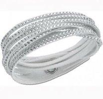 Stylisches Outfit: Swarovski Slake Armband silber/grau