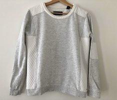 Maison Scotch Suéter blanco puro-gris claro Algodón
