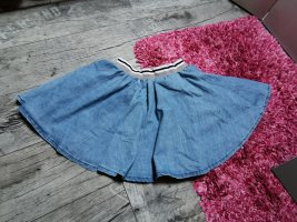 SUBLEVEL ♥ Falten-  Skaterrock, Jeans, mit Bund, stretch Gr. 34 XS