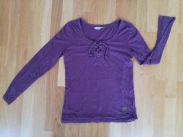 Sublevel Longsleeve blackberry-red cotton