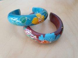 Bracelet de bras brun-turquoise