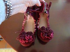 Miu Miu Opbouwbare ballerina's karmijn-donkerrood Suede