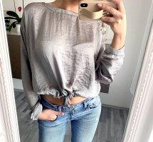 Süße Bluse in grau Silber Crop Top ZARA / 36 38