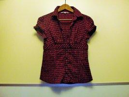 Süße Bluse, pink/schwarz in GR 38 / S, nur 2 x getragen