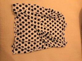 Süsse Bluse schwarz/weiß gepunktet mit Puffärmeln