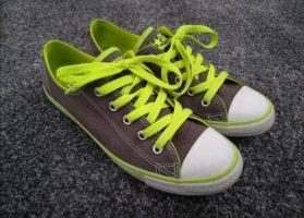 süße Converse Chucks Dainty Ox 6.5 grau neongrün 37,5