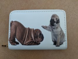 Süsse Geldbörse mit Mops und Bulldogge Audruck