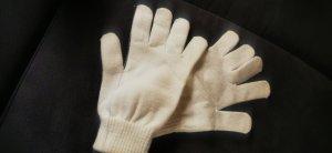 Knitted Gloves white-natural white