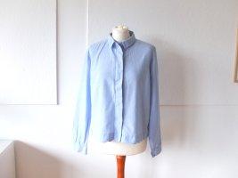 süße hellblaue kurze Cos Bluse Gr. 40 M Wellen