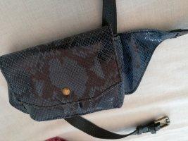Bumbag dark blue leather