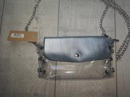 süße kleine durchsichtige Handtaschen hellblau Silber mit separater Tasche