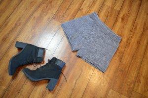 High waist short lichtgrijs-grijs